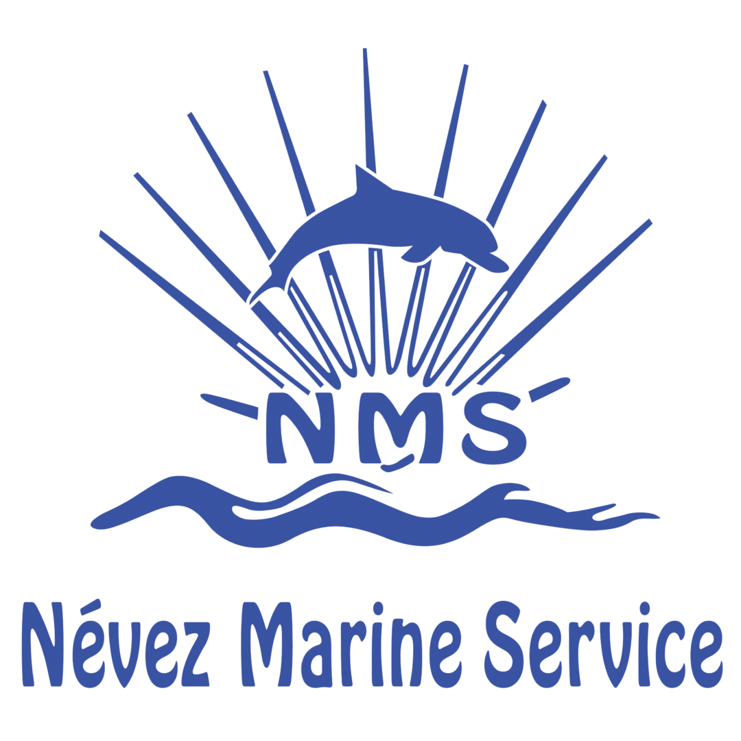 Logo Névez Marine Service Bleu - Contact & Plan