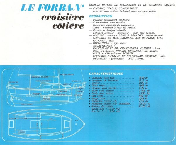 forban notice 3 - Voilier FORBAN